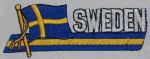 Sweden Embroidered Flag Patch, style 01.